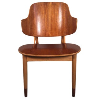 1950s Vintage Ib Kofod Larsen for Christensen & Larsen Lounge Chair For Sale