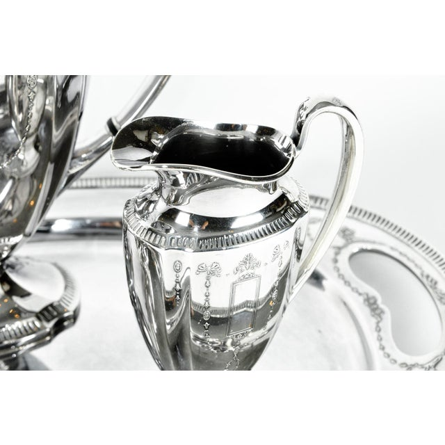 Silver Plate USA Tea & Coffee Set of 4 For Sale - Image 4 of 9