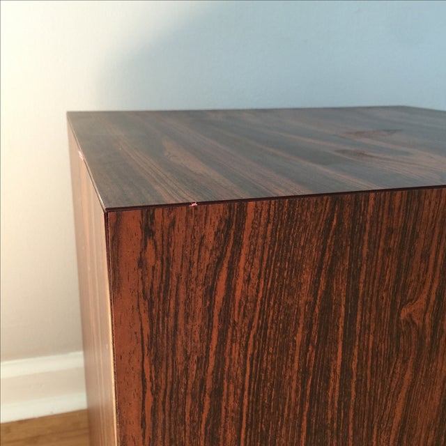 Wood Laminate Cube Side Table - Image 3 of 7