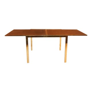 Mid Century Burl Wood Extension Table Milo Baughman Style For Sale