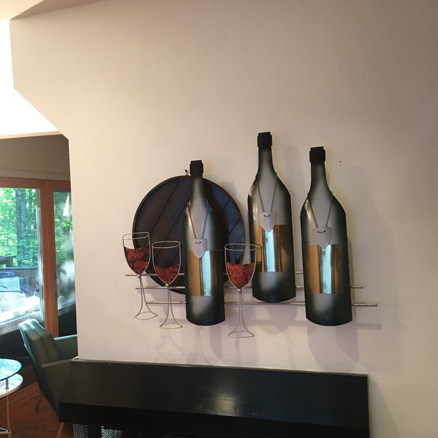 Curtis Jere Signed C. Curtis Jere Artisan House Wine Tasting Sculptural Wall Art For Sale - Image 4 of 10