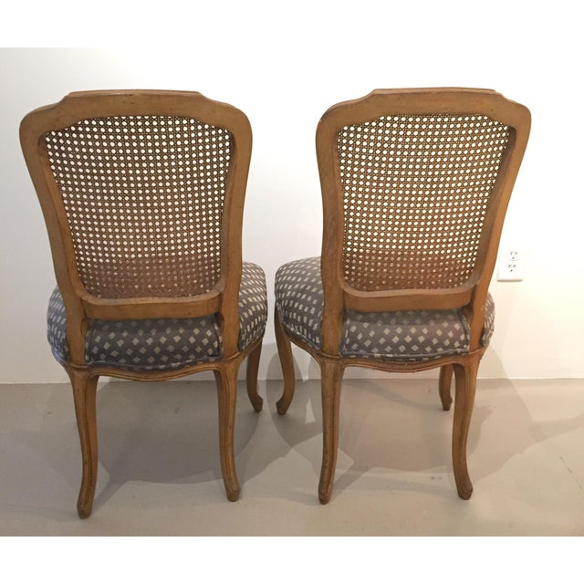 Caning Queen Anne Caned Back Chairs - Set of 4 For Sale - Image 7 of 9