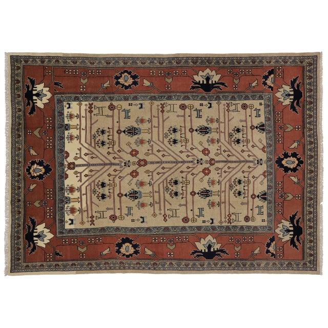 """Vintage Persian Mahal Modern Tribal Rug - 7'3"""" x 10'1"""" For Sale"""