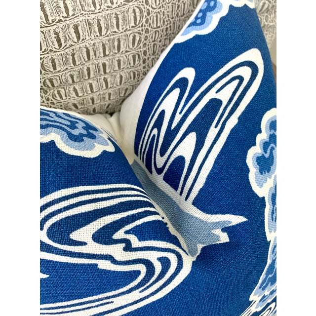 """Traditional Schumacher """"Tree River"""" Pillow Cover For Sale - Image 3 of 4"""