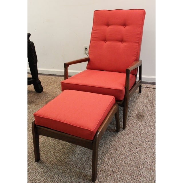 Mid-Century Modern Pearsall-Style Chair & Ottoman - Image 3 of 10