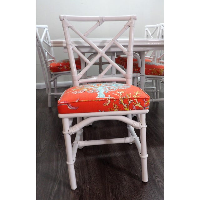 Chinoiserie, Wrapped Bamboo Dining Set - 5 Pieces For Sale - Image 4 of 13