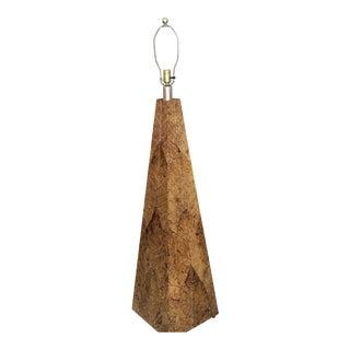 Organic Natural Banana Leaf Obelisk Floor Lamp For Sale
