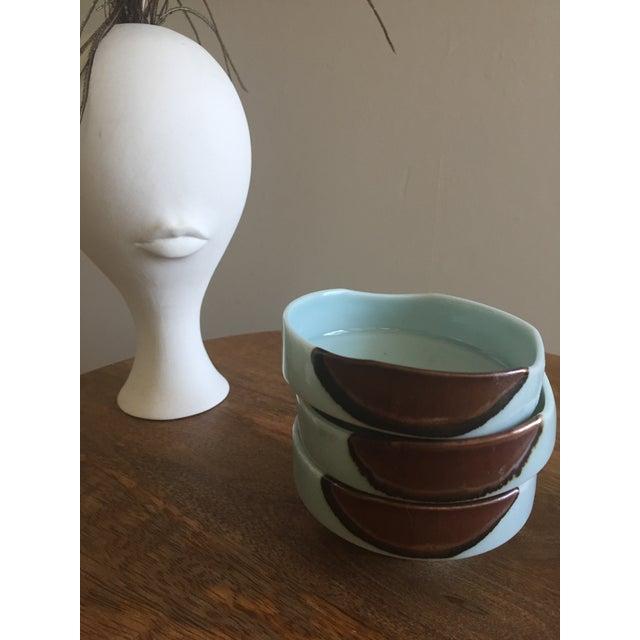 Asian Handmade Ceramic Serving Bowls - Set of 3 For Sale - Image 3 of 6
