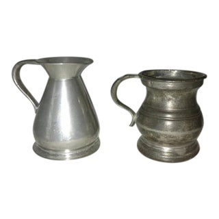 Antique Pewter Bar Measures English Pub - A Pair For Sale