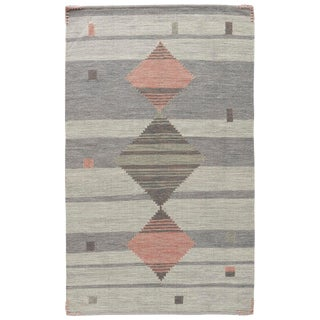 Jaipur Living Meyer Handmade Geometric Gray/ Pink Area Rug - 2′ × 3′