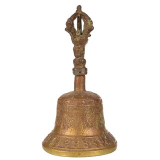 Antique Bronze Desk Bell For Sale