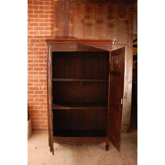 Early 18th Century Antique Louis XV Armoire For Sale - Image 5 of 10