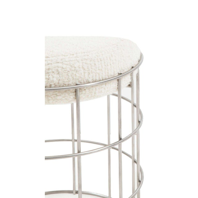 Thomas Stainless Steel Stool For Sale - Image 4 of 6