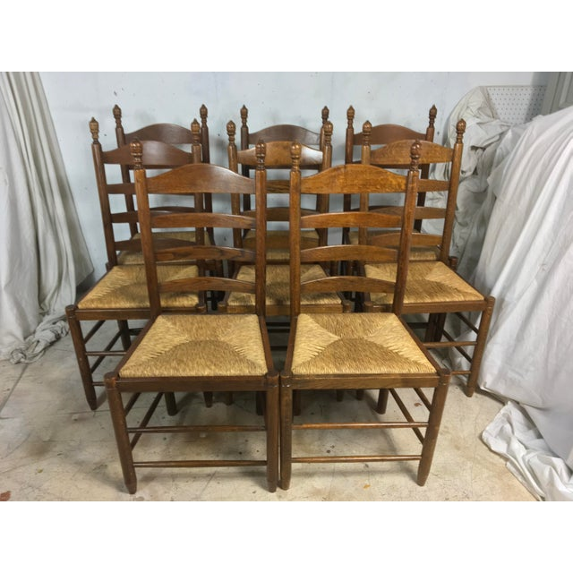 Antique French Rush Seat Chair - Set of 8 - Image 3 of 6 - Antique French Rush Seat Chair - Set Of 8 Chairish
