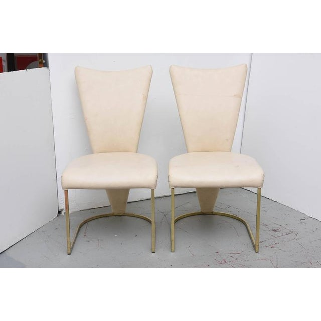 Contemporary Design Institute of America Post-Mod Brass Dining Chairs, Set of Four, 1980s For Sale - Image 3 of 10