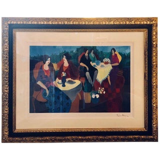 Signed Itzchak Tarkay Seriolithograph Titled 'Morning Social' For Sale
