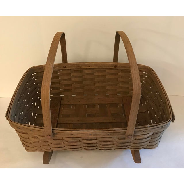 Vintage Longaberger Cradle Basket For Sale In Dallas - Image 6 of 9