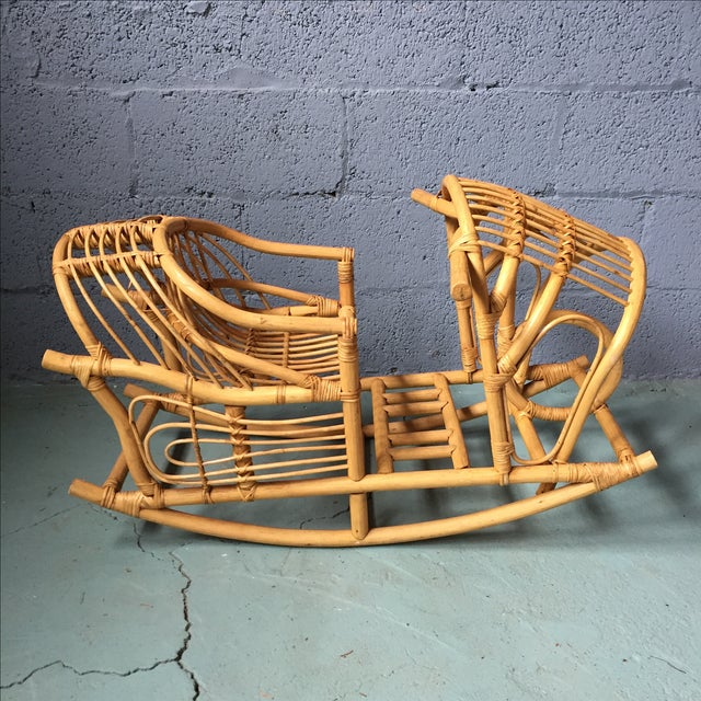 Vintage Child's Rattan Rocking Toy - Image 3 of 11