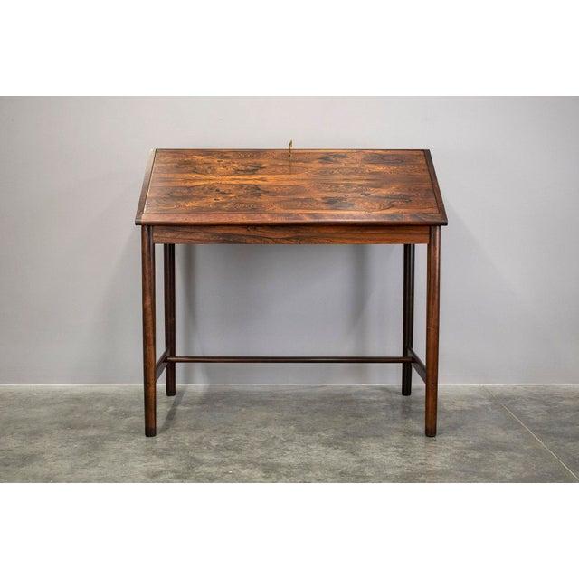 Bruksbo Outstanding Scandinavian Rosewood Secretary Desk by Torbjørn Afdal for Bruksbo For Sale - Image 4 of 8