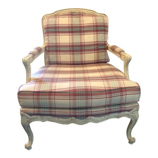 Drexel Heritage French Provincial Bergere Chair For Sale