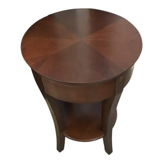 Transitional Round Side Table For Sale