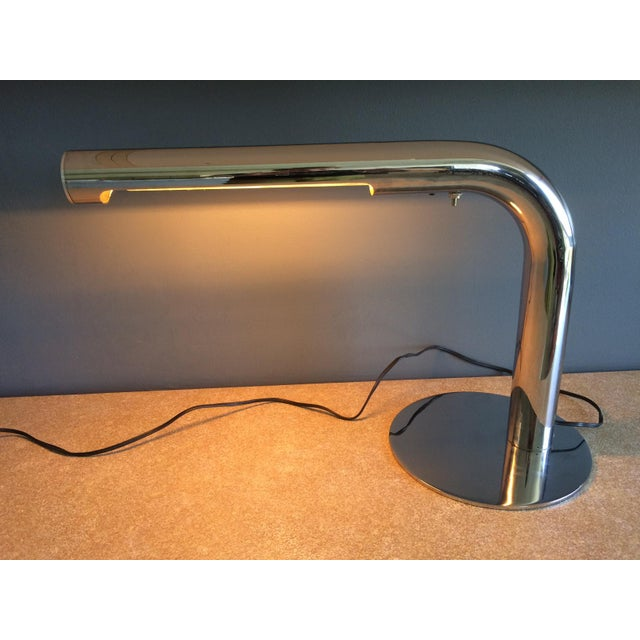 Robert Sonneman Chrome Desk Lamp - Circa 1970s For Sale In Miami - Image 6 of 12