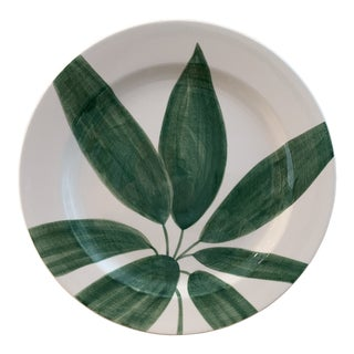 "Tiffany 12"" Hand Painted Decorative Green Este Italian Plate For Sale"