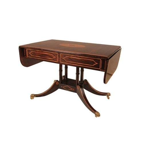 Regency Style 2-Drawer Console/Sofa Table - Image 3 of 4