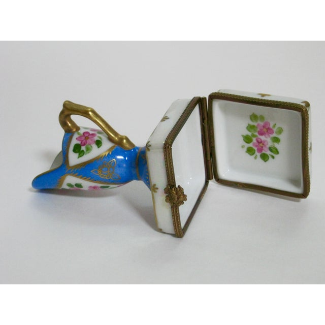 Limoges French Hand Painted Trinket Box For Sale In Providence - Image 6 of 7