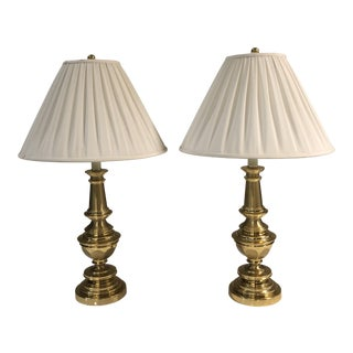 Pair of Stiffel Brass Table Lamps For Sale