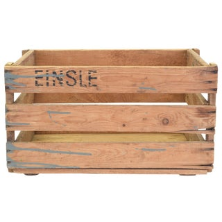 Found European Vintage Wine Crate