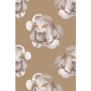 Modern Flower Xl Bronze Wallpaper For Sale