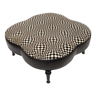 Hide & Leather Cocktail Ottoman