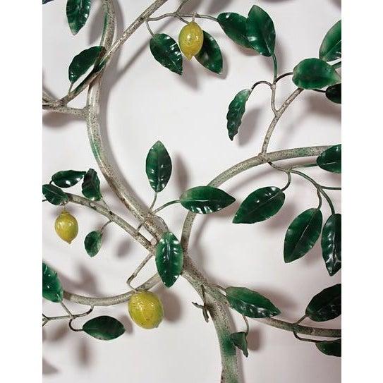 Vintage Italian Lemon Tree Tole Sculpture - Image 3 of 6