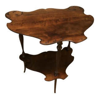 French Walnut Antique Carved Music RoomTable