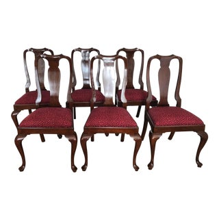 Henkel Harris Wild Black Cherry Dining Chairs - Set of 6 For Sale