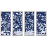 Image of Blue Tree Panel, Framed Artwork - Set Of 4 For Sale
