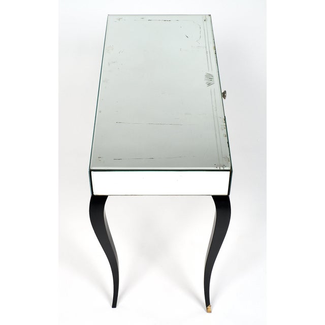 Glass Art Deco Period Mirrored Vanity For Sale - Image 7 of 11