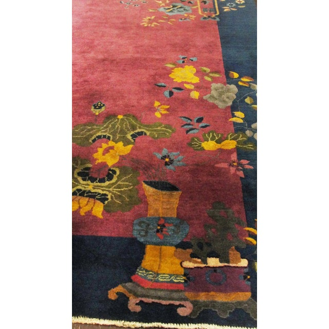 """Antique Art Deco Chinese Oriental Rug-8' X 9'6"""" For Sale In Chicago - Image 6 of 12"""