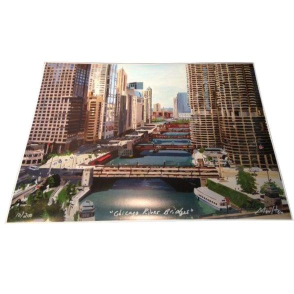 Chicago River Bridges, Giclee Print - Image 1 of 3