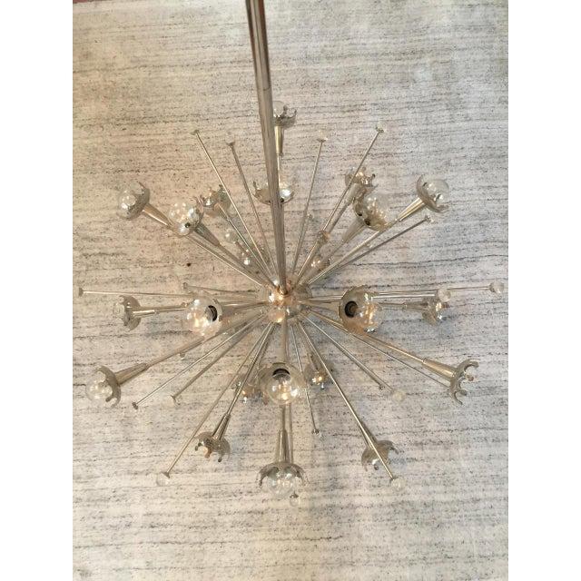 Metal Jonathan Adler Polished Nickel Sputnik Chandelier For Sale - Image 7 of 7