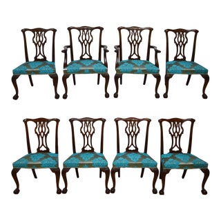 Baker Ball and Claw Mahogany Chippendale Dining Chairs- Set of 8 For Sale