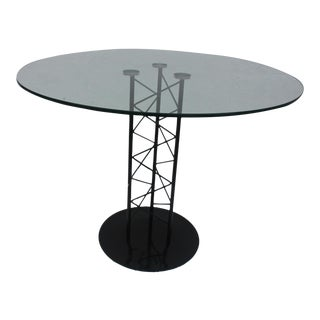 Italian Sculptural Pedestal Base Round Dining Table For Sale