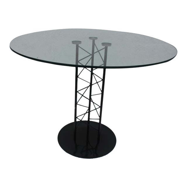 Italian Sculptural Pedestal Base Round Dining Table - Image 1 of 8