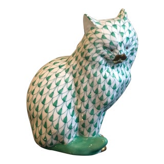 Herend Cat Sitting Figurine
