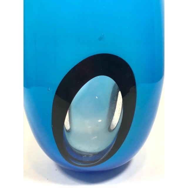 Italian Murano Art Glass Vase For Sale - Image 3 of 8