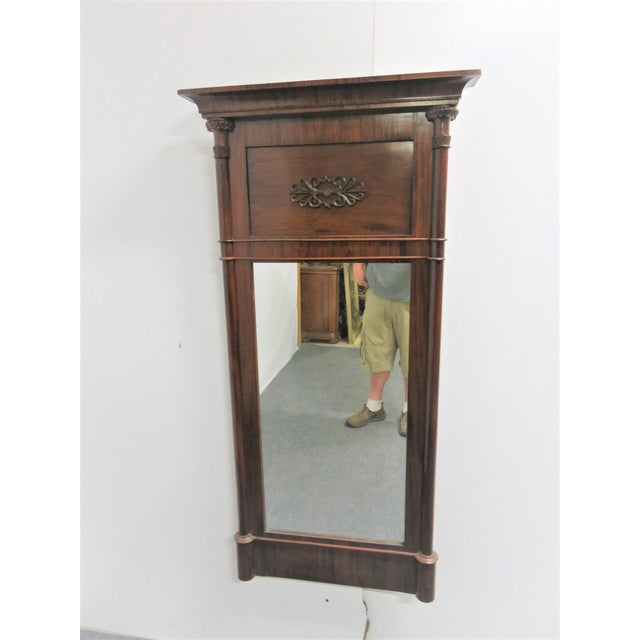 Mahogany Late 19th Century Empire Louis Philippe Mahogany Wall Mirror For Sale - Image 7 of 7