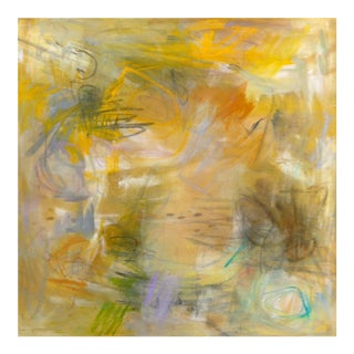 """""""Sunflowers"""" by Trixie Pitts Abstract Oil Expressionist Painting For Sale"""