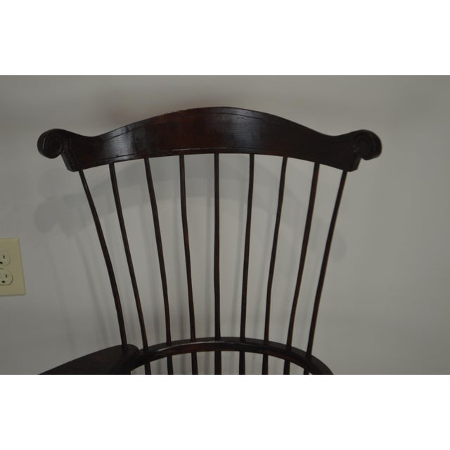 Traditional Windsor Style Miniature Childs Writing Arm Chair by K. Malone (18th Century Reproduction) For Sale - Image 3 of 13
