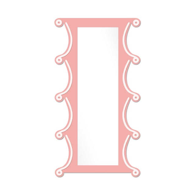 Contemporary Fleur Home x Chairish Voodoo Mirror in Pink Punch, 42x84 For Sale - Image 3 of 3